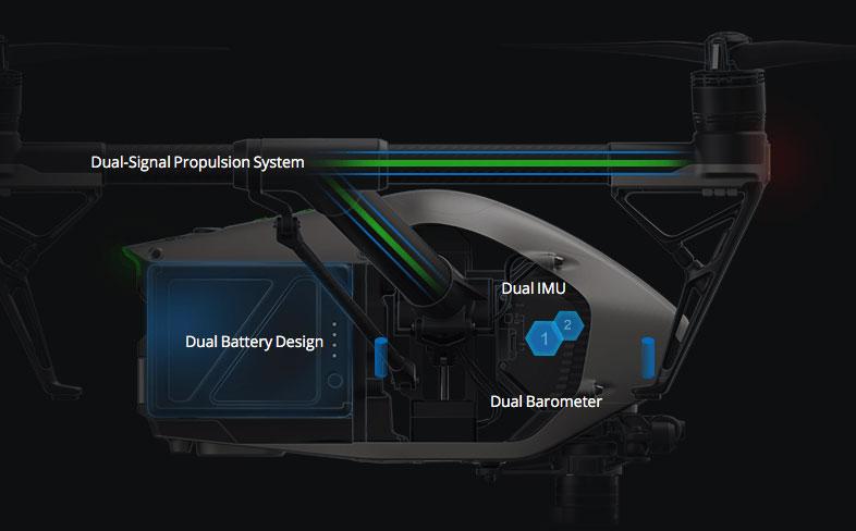 DJI Inspire 2 redundant sensors
