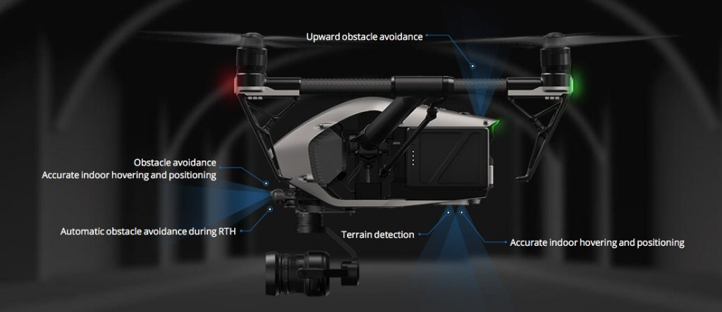 DJI Inspire 2 obstacle avoidance