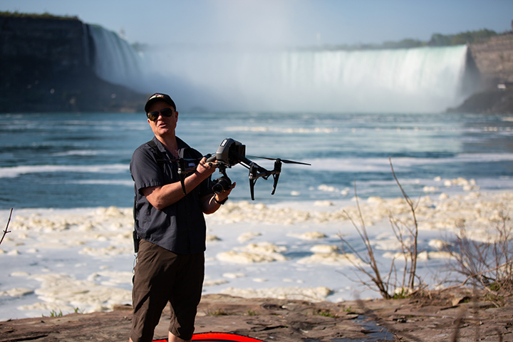 tom comet, drone niagara, drone boy niagara falls, niagara falls drone video
