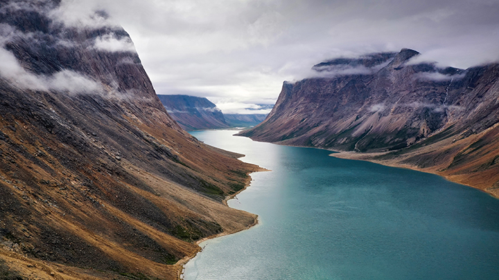 flying drones in the torngat mountain national parks