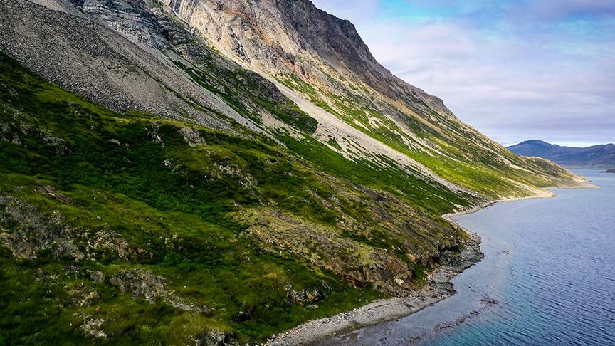 torngat mountains as seen from a drone