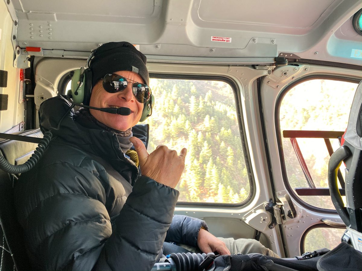 Tom Comet in B3 Helicopter