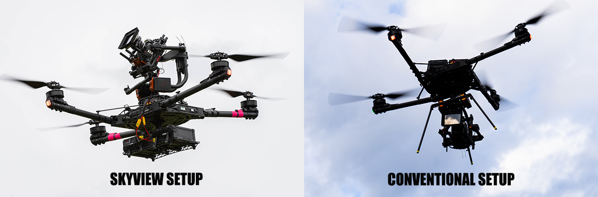 drones look up with skyview